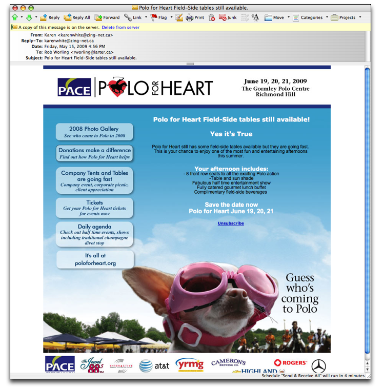 Polo for Heart Dog Email
