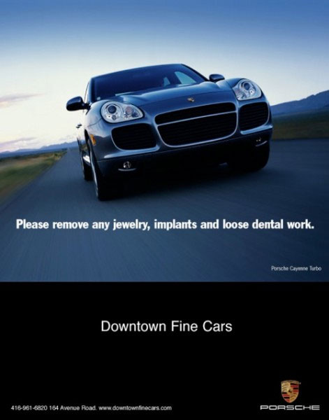 orange bazooka portfolio downtown fine cars poster image